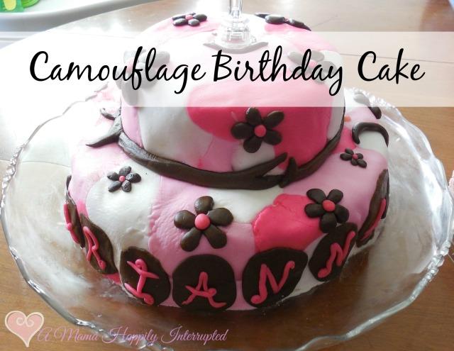 Swell Camouflage Birthday Cake Personalised Birthday Cards Paralily Jamesorg