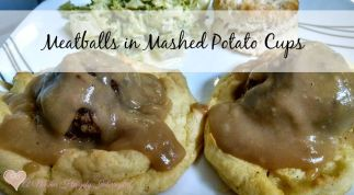 Meatballs in Mashed Potato Cups