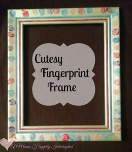 Cutesy Fingerprint Frame